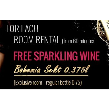 Gift: Bottle of sparkling wine Bohemia Sekt in the room from 60 minutes - foto č. 1